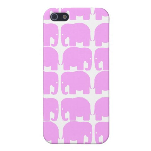 PInk Elephants Silhouette Speck Case iPhone 5 Cases