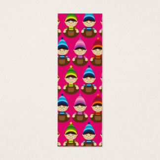 Pink Elf Repeat Bookmark Mini Business Card
