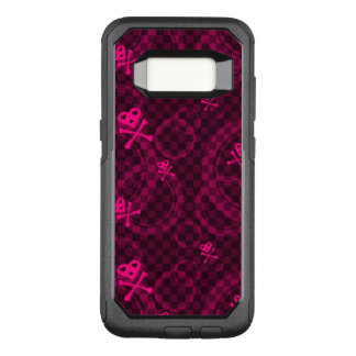 Pink Emo Pattern With Circles OtterBox Commuter Samsung Galaxy S8 Case