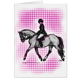 Pink English Horse Greeting Card