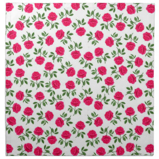 Pink English Tea Roses Napkin
