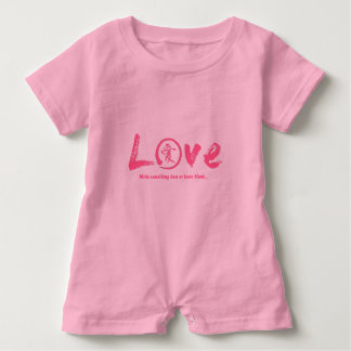 Pink enso zen circle, Japanese symbol for love Baby Romper