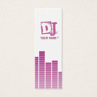 Pink Equalizer Mini Business Card