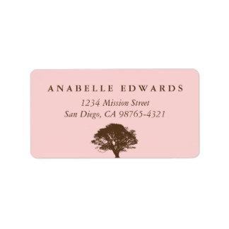 Pink eternal oak tree envelope seal address