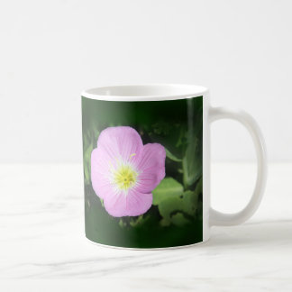 Pink evening primrose flower coffee mug
