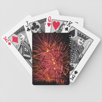 Pink Explosion Bicycle Playing Cards