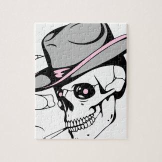 pink eye skull jigsaw puzzle