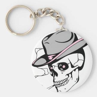 pink eye skull keychain