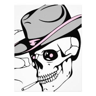 pink eye skull letterhead
