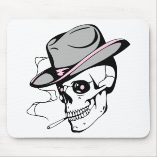 pink eye skull mouse pad