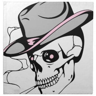 pink eye skull napkin