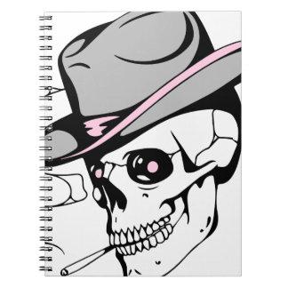 pink eye skull notebook