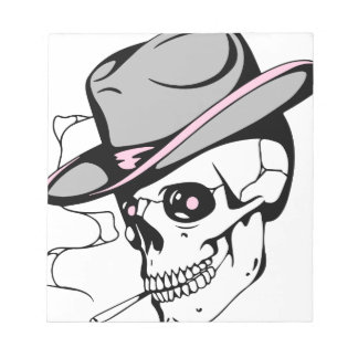 pink eye skull notepad