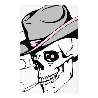 pink eye skull stationery