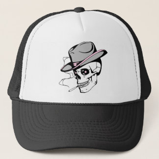pink eye skull trucker hat