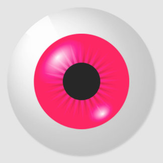 Pink Eyeball Classic Round Sticker