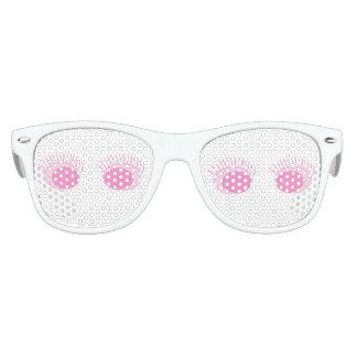 Pink Eyes/Lashes Kids Retro Party Shades