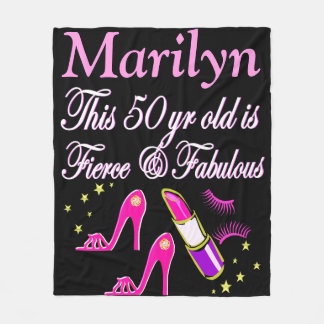 PINK FABULOUS 50TH BIRTHDAY PERSONALIZED BLANKET