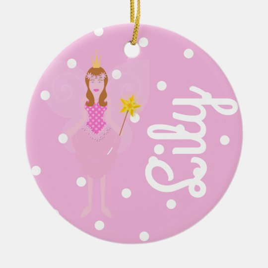Pink Fairy/1st Christmas Dble-sided Ornament