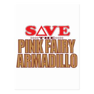 Pink Fairy Armadillo Save Postcard