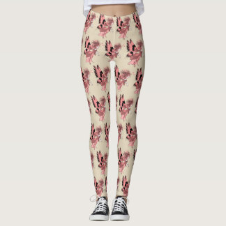 Pink Fairy Cartoon Fantasy Butterfly Elf Artistic Leggings
