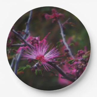 Pink Fairy duster 9 Inch Paper Plate