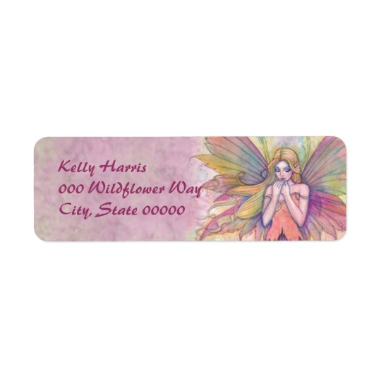 Pink Fairy Fantasy Art Return Address Labels
