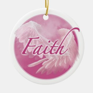 Pink Faith Ornament
