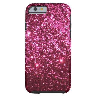Pink Fake Glitter Tough iPhone 6 Case