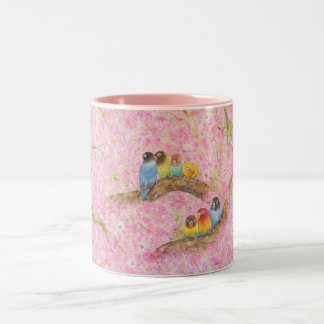 Pink Family Bliss Two-Tone Coffee Mug