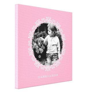 Pink Fancy Decorative Frame Photo Canvas Print