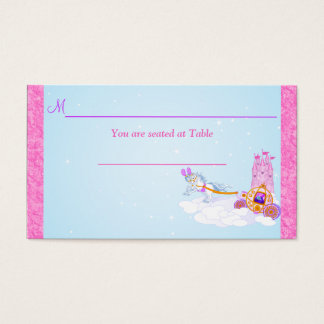 Pink Fantasy Fairy Tale Reception Place Card
