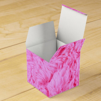 Pink Faux Fur Favor Box