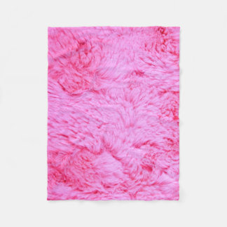 Pink Faux Fur Fleece Blanket