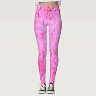 Pink Faux Fur Leggings