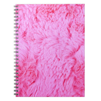 Pink Faux Fur Notebook