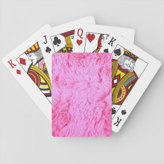 Pink Faux Fur Playing Cards