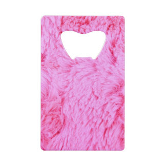 Pink Faux Fur Wallet Bottle Opener