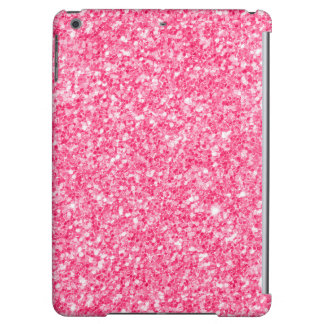 Pink faux glitter and sparkles case for iPad air