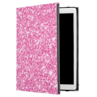 "Pink Faux Glitter Background iPad Pro 12.9"" Case"