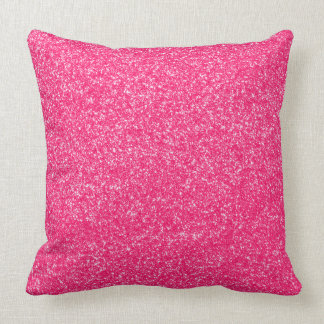 Pink Faux Glitter Girly Pillow