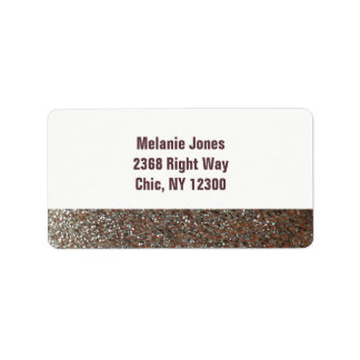 Pink Faux Glitter New Address