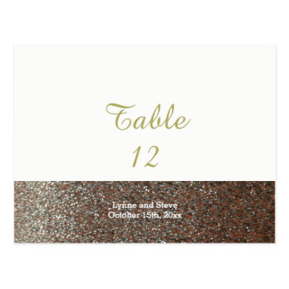Pink Faux Glitter Table Seating Card
