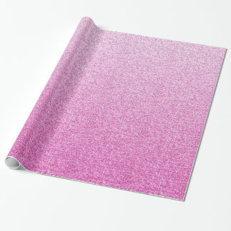 Pink Faux Glitter Wrapping Paper