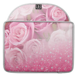 Pink Faux Sparkly Glitter Rose For Women And Girls Sleeves For MacBooks