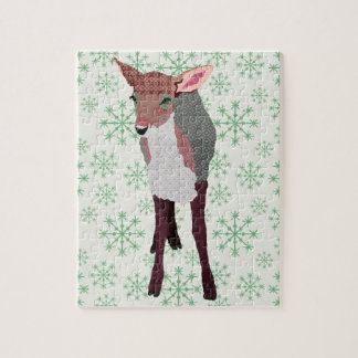 Pink Fawn Art Puzzle