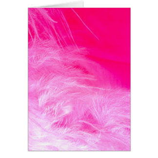 Pink Feather Card