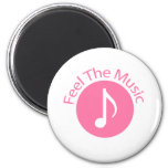 Pink - Feel the Music Refrigerator Magnet