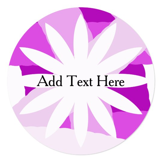 Pink Fest Flower Customized Invitations