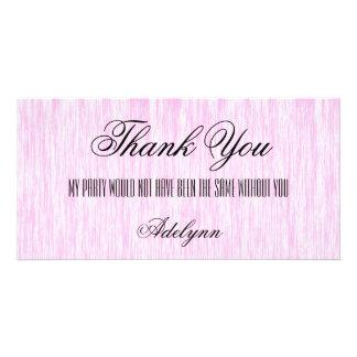 Pink Fiber Customized Photo Card